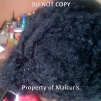 Wash-n-Go Updo day 5 hair