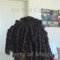 Hair taken down before separating