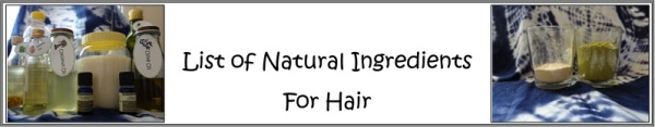list of natural ingredients for hair