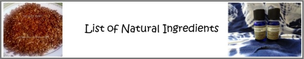 natural ingredient list header