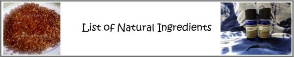 natural ingredient list header
