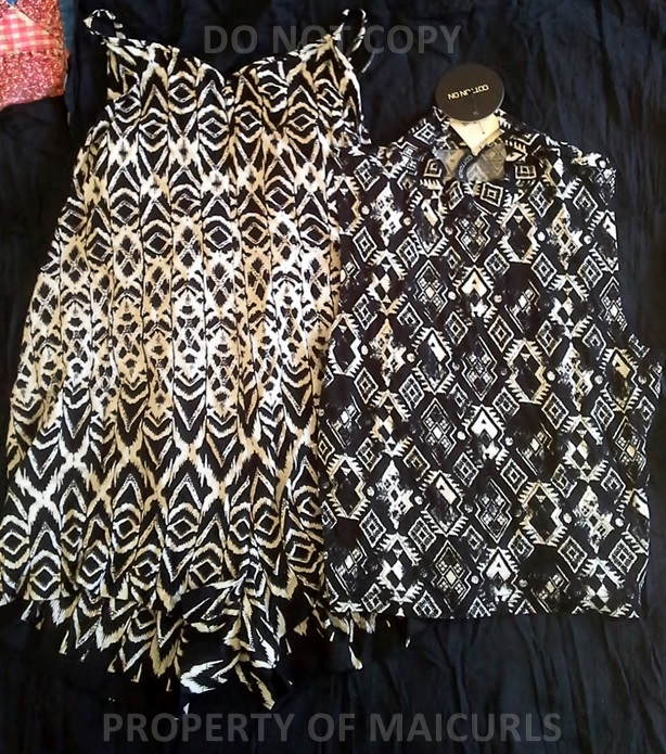 (Left) Romper shorts H&M & (Right) Top Cotton:On