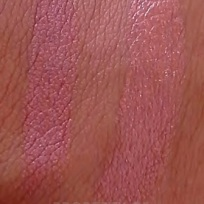 Lipstick Swatch: (Left) Kate lasting finish - 105 & (Right) Rimmel moisture renew - 720 Notting Hill Nude