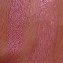 Lipstick Swatch: (Left) Kate lasting finish - 105 & (Right) Rimmel moisture renew - 720 Notting Hill Nude