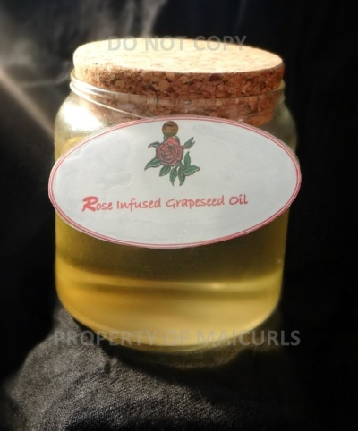 DIY Rose Infused Grapeseed Oil With Rose Essential Oil