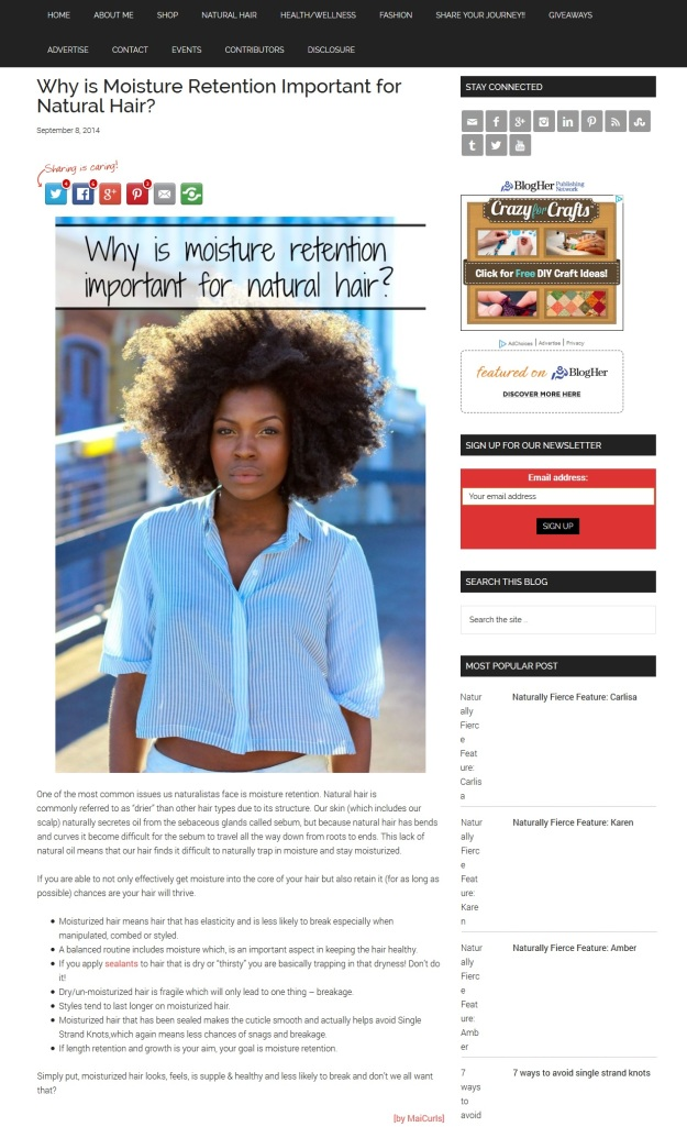 Why is moisture retention important for natural hair