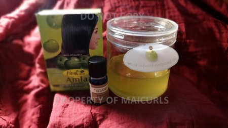 DIY Amla Infused Grapeseed Oil