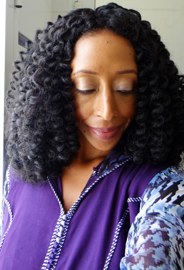 Bouncy Twist Out - Turned DIY Crochet Flexi Rod Curl Wig (Annabelle)