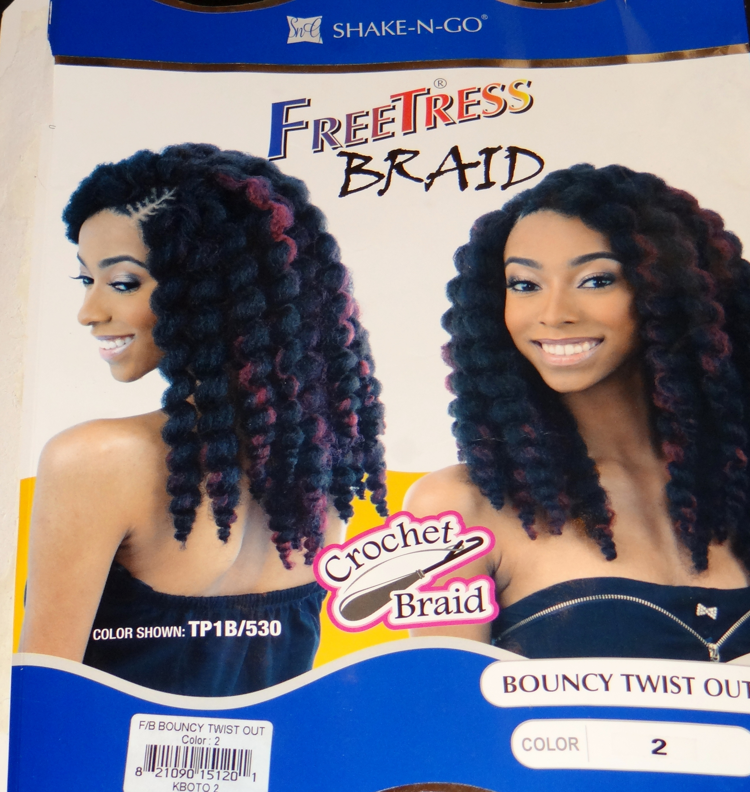 Review Shake N Go Freetress Crochet Braiding Hair Bouncy Twist Out