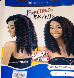 Freetress Crochet Braiding Hair - Bouncy Twist out